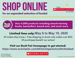 Last Day!! Scholastic Virtual Book Fair at MSD!